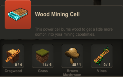 Wood Mining Cell