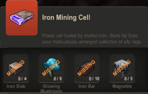 Iron Mining Cell